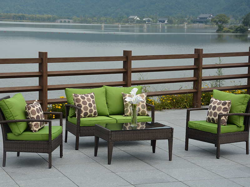 Patio rattan sofa furniture
