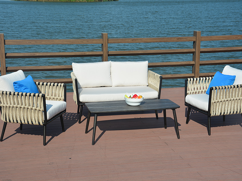 Rattan sectional sofa set