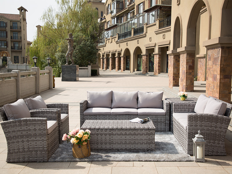 outdoor rattan sofa set