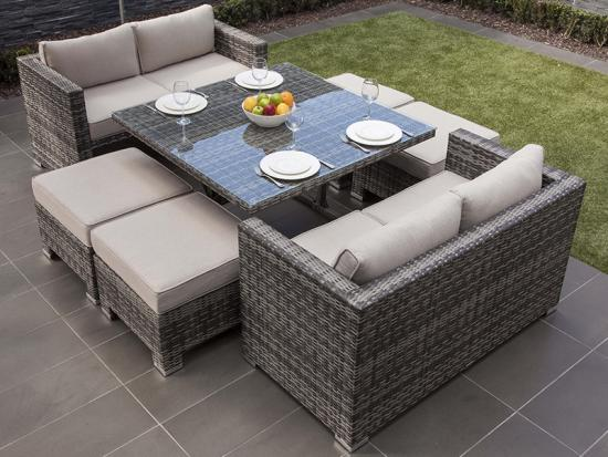 neuesten Outdoor-Rattan-Ess-Sets